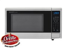 1.1 cu. ft. 1000W Sharp Stainless Steel Carousel Countertop Microwave Oven (SMC1132CS)