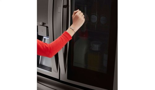LG Black Stainless Steel Series 23 cu. ft. InstaView Door-in-Door® Counter-Depth Refrigerator