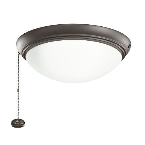 Satin Natural Bronze LED fan fixture SNB