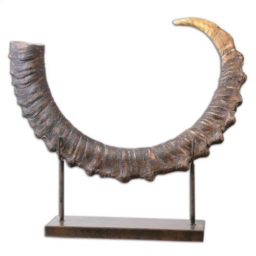 Sable Antelope Horn Sculpture