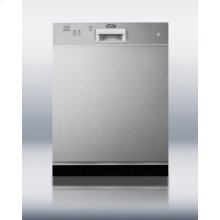 """24"""" Wide Dishwasher With Stainless Steel Door"""