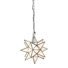 Extra Large Star Chandelier With Frosted Glass.