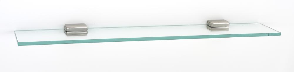 Cube Glass Shelf A6550-24 - Polished Nickel