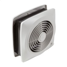 "8"" 180 CFM Room To Room Fan, White Square Plastic Grille"