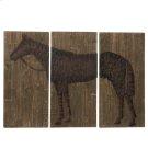 3 pc. set. Large Horse Wall Decor. (3 pc. set) Product Image