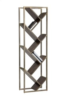 Voss Bookcase - Nickel