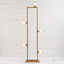 Clara Floor Lamp-gold Leaf