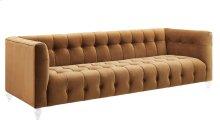 Bea Cognac Velvet Sofa