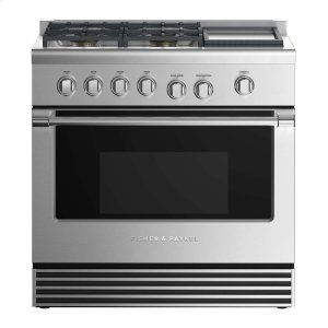"FISHER & PAYKELDual Fuel Range 36"", 4 Burners with Griddle (LPG)"