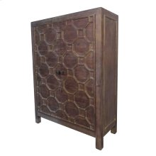 Silvestro Distressed Bar Cabinet, Antique Brown