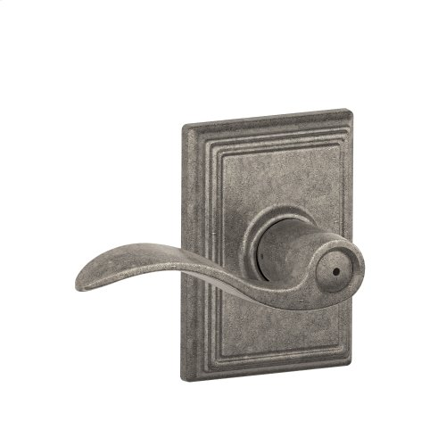 Accent Lever with Addison trim Bed & Bath Lock - Distressed Nickel