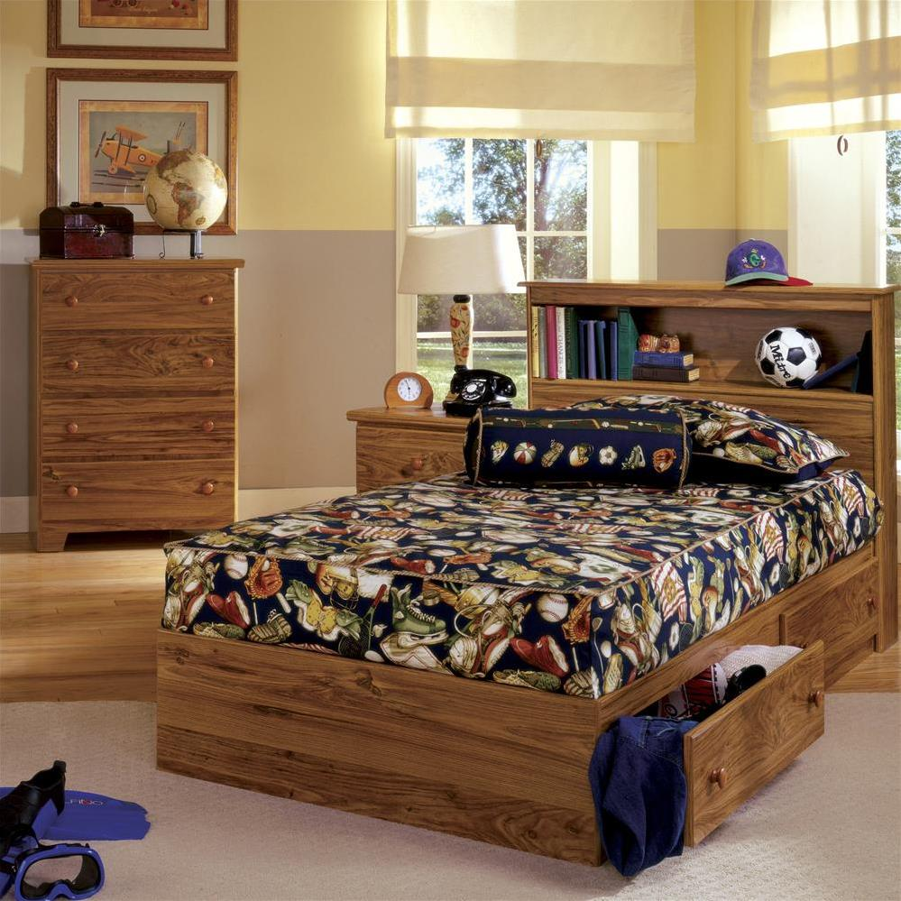 bookcase 4drawer panel captains bed full