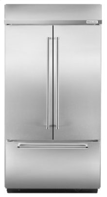 """EDMOND LOCATION ONLY! - 24.2 Cu. Ft. 42"""" Width Built-In Stainless French Door Refrigerator with Platinum Interior Design - Stainless Steel"""
