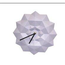 Resin Origami Wall Clock, Purple