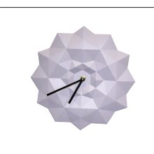 Resin Origami Wall Clock, Purple