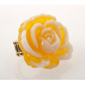 BTQ Yellow Rose Ring