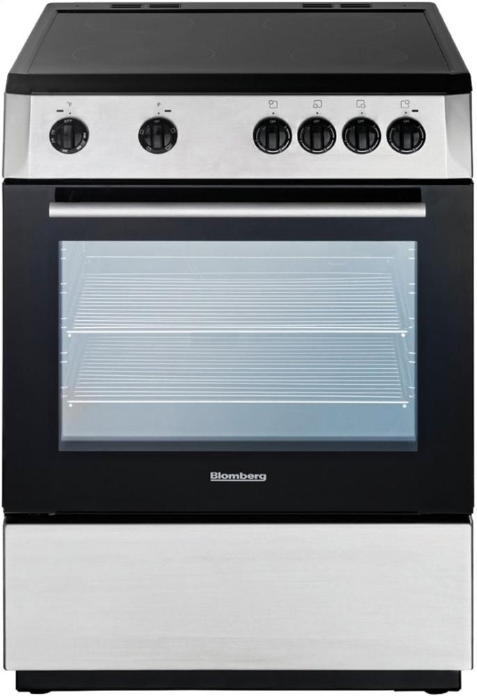 """Blomberg Appliances24"""" Electric, Non-Convection, Smooth Top 4 Zone, Stainless"""