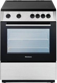 "24""W Electric Range, SS/Black"