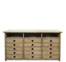 Perspectives Entertainment File Cabinet Sun-drenched Acacia finish