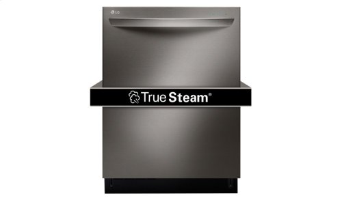 LG Black Stainless Steel Series Top Control Dishwasher with TrueSteam®