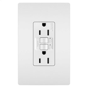 Dual Function Tamper-Resistant 15A AFCI/GFCI Receptacle, White