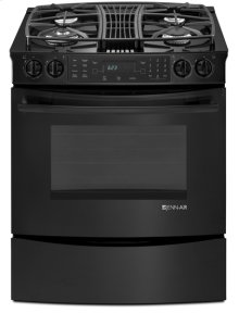 Black Jenn-Air® Slide-In Gas Downdraft Range with Convection, 30""