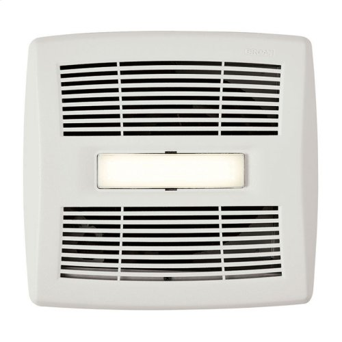 InVent Series Single-Speed Bathroom Exhaust Fan With LED Light 110 CFM 1.0 Sones, ENERGY STAR Certified