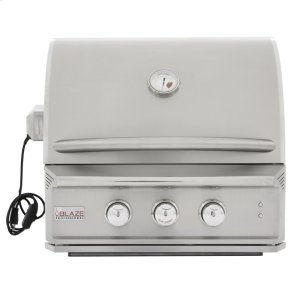 BLAZE GRILLSBlaze Professional 27-Inch 2 Burner Built-In Gas Grill With Rear Infrared Burner, With Fuel type - Propane