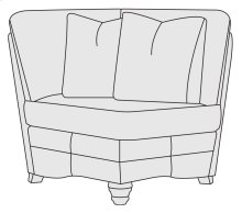 Tarleton Corner Chair in Brandy (703)
