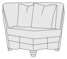 Tarleton Corner Chair in Brandy (703)