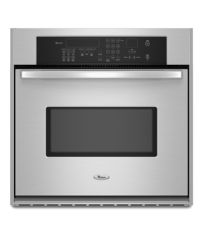 Stainless Steel Whirlpool® 30-Inch Single Built-In True Convection Oven