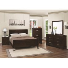 Louis Philippe Traditional Cappuccino Queen Headboard