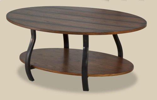 Montana Oak Plank Oval Cocktail Table