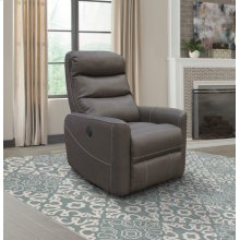 Hercules Haze Power Swivel Glider Recliner with Articulating Headrest and built-in battery pack