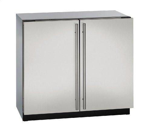 "Modular 3000 Series 36"" Solid Door Refrigerator With Stainless Solid Finish and Double Doors Door Swing (115 Volts / 60 Hz)"