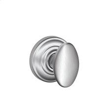 Siena Knob with Andover trim Non-turning Lock - Satin Chrome