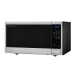 1.8 Cu. Ft. 1100w Sharp Stainless Steel Countertop Microwave Oven With Black Mirror Door