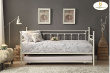 Metal Daybed with Trundle Daybed: 82.5 x 42 x 42H Trundle: 76.75 x 41 x 4.25H