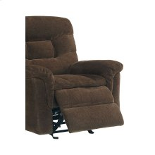 Manual Walnut Glider Recliner