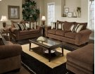 4 Piece Masterpiece Chocolate Sofa, Loveseat, Chair and Ottoman Product Image