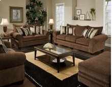 Masterpiece Chocolate Sofa and Loveseat