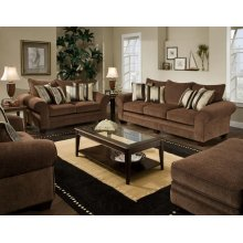 3700 Masterpiece Chocolate Sofa and Loveseat