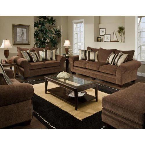 3700 Masterpiece Chocolate Sofa Only