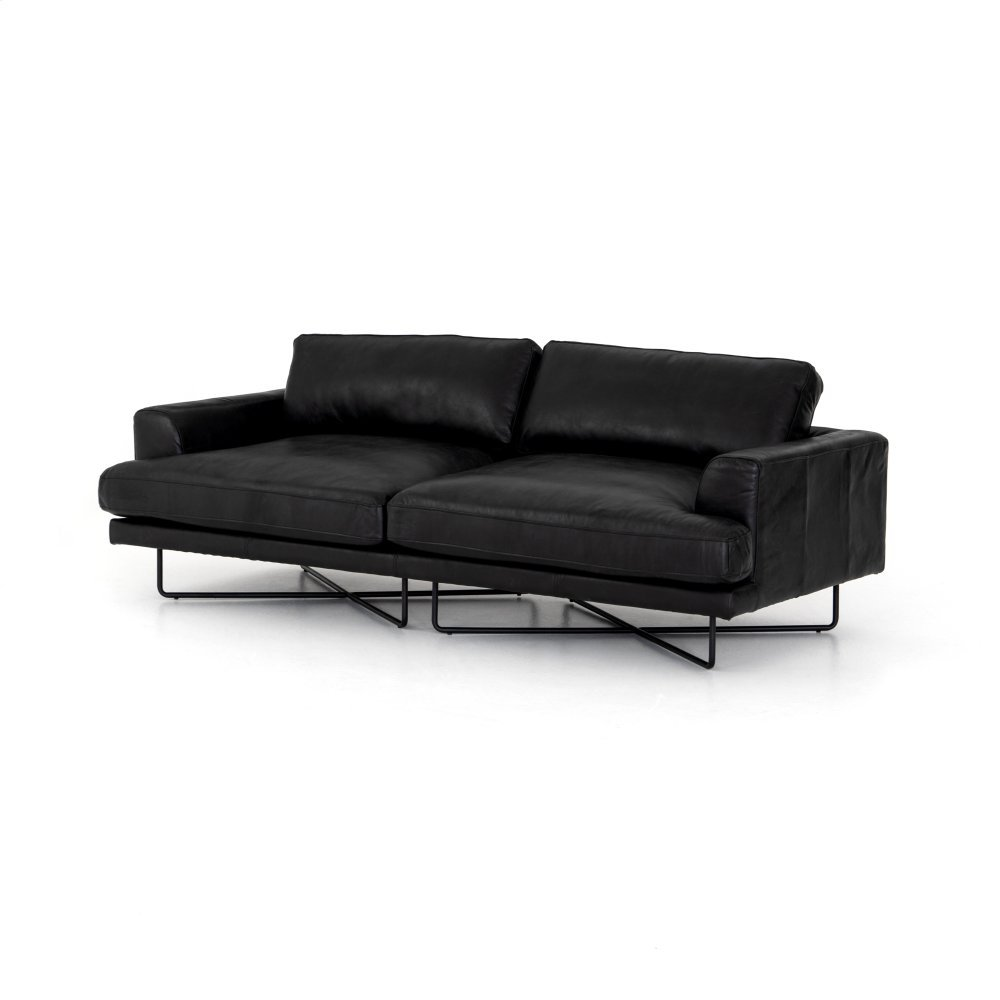 "Aged Black Cover Miller Sofa-80"""