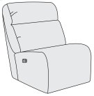 Derek Power Motion Armless Chair Product Image