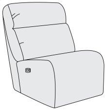 Derek Power Motion Armless Chair