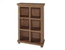 Distressed Pine Bookcase - Pine, Black, \u0026 White Finish