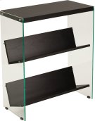 "Highwood Collection 3 Shelf 28""H Glass Frame Bookcase in Dark Ash Finish Product Image"