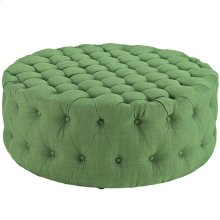Amour Upholstered Fabric Ottoman in Kelly Green