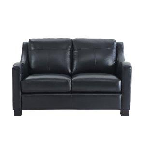 Leather Italia Usa 2052 Presley Loveseat L201k Black